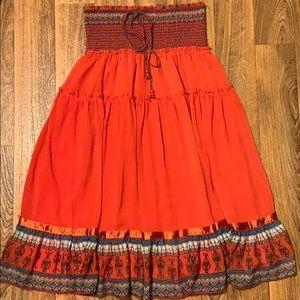 Boho convertible maxi skirt/summer dress EUC